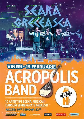 Seară Grecească: Acropolis Band // 15 februarie // Berăria H